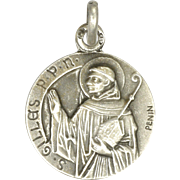 French St Gilles Silver Medal Charm - PENIN