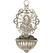 German 800 Silver 'Our Lady of Sorrows' Holy Water Font - Simon Rosenau