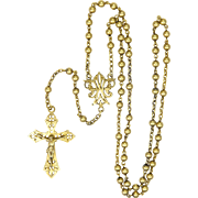 French Circa 1900 Gold Filled 'FIX' Rosary