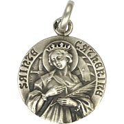 French St Catherine Silver Medal or Charm