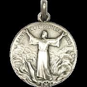 French Silver St. Elijah Medal  - TRICARD