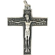 French Silver Modernist Crucifix - FERNAND PY