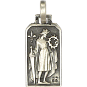 French Art Deco St Louis Silver Medal or Charm - FERNAND PY