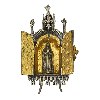 French 19C Our Lady Travelling Shrine