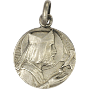 French Saint Remigius Holy Spirit Silver Medal or Charm