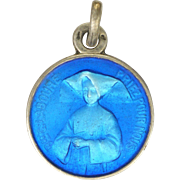 French Silver Enamel St Catherine Labouré Medal or Charm