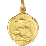 French 18K Gold Filled Baptismal with Angel Medal or Charm - MURAT