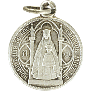 French Our Lady Of Rocamadour Silver Medal or Charm