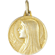 French Thickly Gold Plated Virgin Mary Medal - REGOR