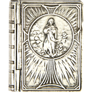 French Silver Plated Assumption of Mary Book Box