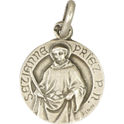 French St Etienne/St Stephen Silver Medal or Charm