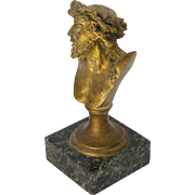 Bronze Jesus Bust on Marble Plinth - Signed - Red Tag Sale Item