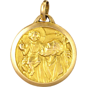 French St Chistopher Gold Filled 'FIX' Medal