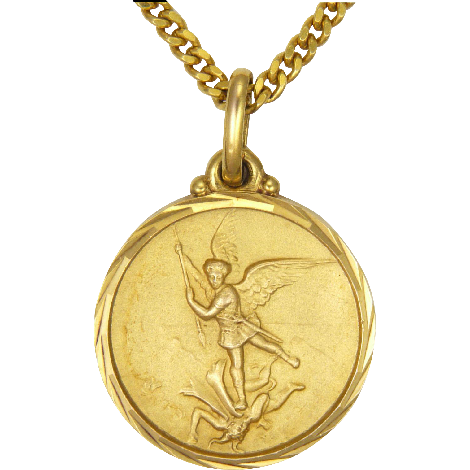 French st michael and dragon pendant necklace from french st michael and dragon pendant necklace mozeypictures Gallery