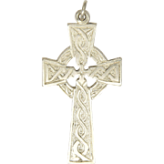Scottish Sterling Silver Celtic Cross Pendant