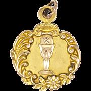 French Art Nouveau Gold Filled FIX Communion Medal -1904