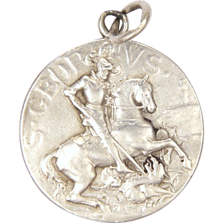 French St. George and Dragon Sterling Silver Medal