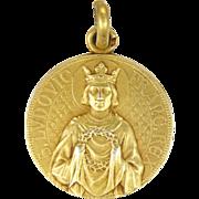 French 1918 Silver Gilt Medal - St Louis Hospital Paris - Penin Poncet