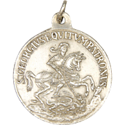 French St George and Dragon Double Sided Silver Medal