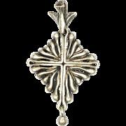 Swiss 'Saint Esprit' Silver Dove Cross Pendant - Gilbert Albert