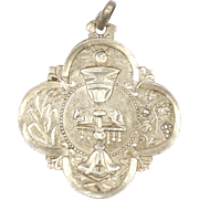 French 1893 Silver First Communion Medal