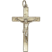 English 1915 Sterling Silver Crucifix - 2 and 5/8 inches