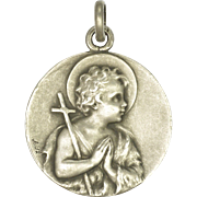French 1914 Silver John the Baptist and Lamb of God Medal