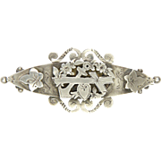 French Victorian Faith Hope and Charity  Sterling Silver Pin