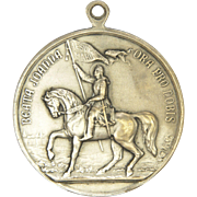 French Joan of Arc and Pope Pious X Silvered Bronze Medal - 1909