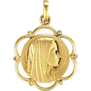 French Gold Plated Mary Medal or Charm