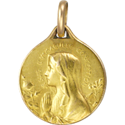 French Gold Filled Virgin Mary Medal or Charm - FIX