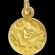 French Gold Filled 'FIX' Cherub Charm - 1909