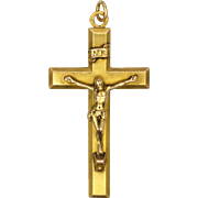 French Gold Filled 'FIX' Crucifix