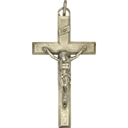 French Silver Crucifix -Circa 1910-1920