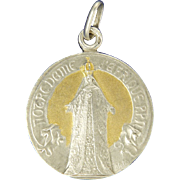 French Silver Gilt 'Our Lady of Africa' Medal Pendant - signed A Salés - Red Tag Sale Item