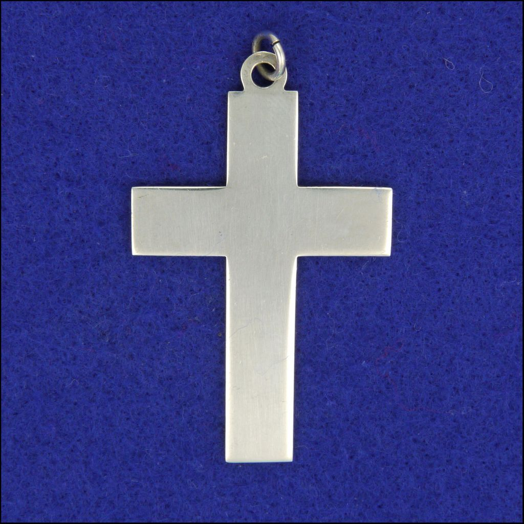 English sterling silver plain cross pendant hallmarked 1975 sold english sterling silver plain cross pendant hallmarked 1975 aloadofball Image collections