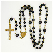 French Gold Filled and Glass Bead Rosary - TAIRAC