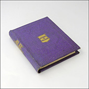 Victorian Miniature Bible Texts Book  -  Published 1861 - Red Tag Sale Item