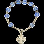French Silver Cross Communion Dizainier Bracelet