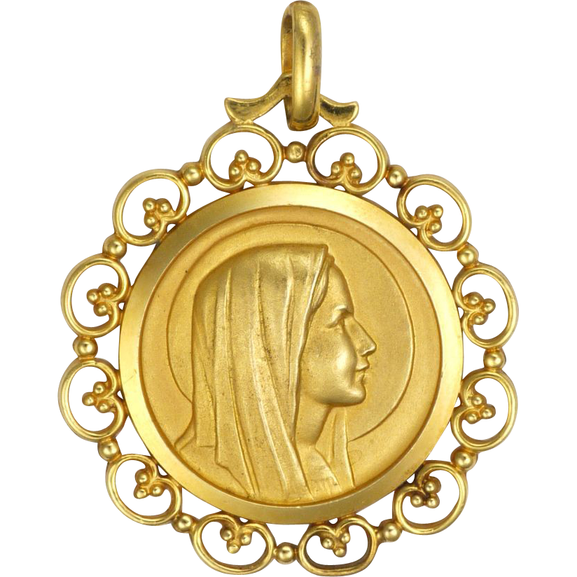 French Gold Filled Virgin Mary Lourdes Medallion Pendant. Bright Diamond. Carre Diamond. Aquamarine Diamond. One Setting Diamond. Ruby Bridal Set Diamond. Cyan Diamond. 71 Million Dollar Diamond. Snow White Diamond