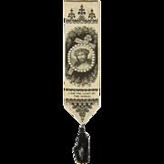 Victorian Stevengraph Bookmarker Religious - Jesus Christ