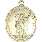French 19C Guardian Angel & St. Joseph Medal - 12.7 grams - RARE!