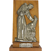 St Francis of Assisi Standing Plaque