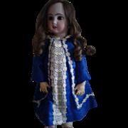 Vintage Blue Silk Doll Jacket Dress