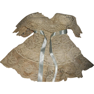 """Antique All Lace 10"""" Doll Dress"""