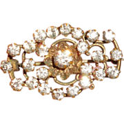 Victorian Paste Fichu Pin