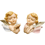 Vintage Lefton and Norcrest Cherub Wall Plaques