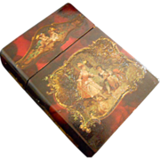 Antique French Vernis Martin Love Letter Box