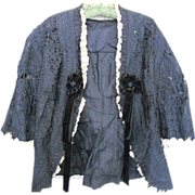 Victorian Mourning Lace Jacket
