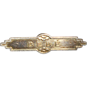 Art Deco French BeBe Pin